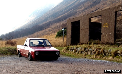 VW Mk1 Caddy Lowered Image