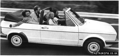 Image of a VW Mk1 Golf Cabriolet