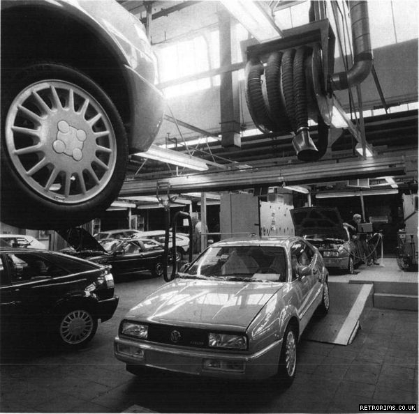 VW Corrado assembly at Karmann's Osnabruck plant